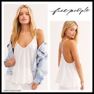 FREE PEOPLE BOHO FLOWY V-NECK TANK TOP TEE A2C